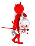 Devil carrying businessman on shoulder Royalty Free Stock Image