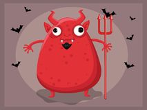 Devil cartoon Stock Photo