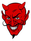 Devil Cartoon Face Royalty Free Stock Photo