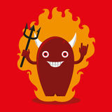 Devil cartoon  Royalty Free Stock Photo