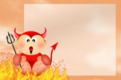 Devil cartoon Royalty Free Stock Images