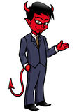 Devil cartoon Stock Image