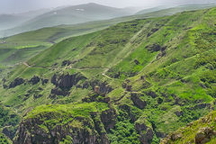 Devil Castle Panaroma in Kars Royalty Free Stock Image