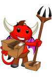 Devil Character - Holding A Parcel Royalty Free Stock Images