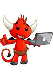 Devil Character - Laptop Royalty Free Stock Photography