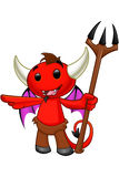 Devil Character - Pointing Royalty Free Stock Photos