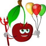Devil cherry with balloons Royalty Free Stock Images