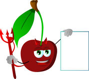 Devil cherry with blank board Stock Photography