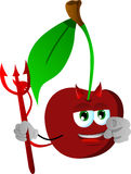 Devil cherry pointing at viewer Stock Images