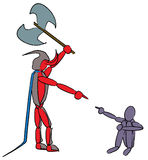 Devil and child Stock Image