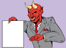 Devil with contract Stock Images