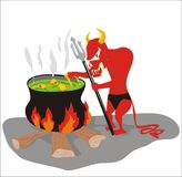 Devil cook Stock Images