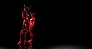 Devil couple Royalty Free Stock Image