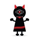 Devil creature cute art illustration Stock Photos