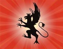 Devil crest burst Stock Image