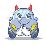 Devil cute car character cartoon Stock Photos