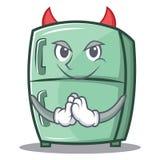 Devil cute refrigerator character cartoon Stock Photos