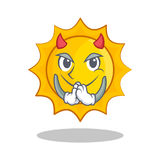 Devil cute sun character cartoon Stock Photography