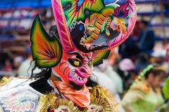 Devil Dancer at Oruro Carnival in Bolivia Stock Photos