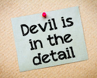 Devil is in the detail Royalty Free Stock Photos
