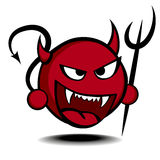 Devil. Detailed illustration of a stylized red devil with trident Royalty Free Stock Photography