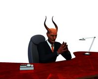 Devil or devious business man isolated royalty free stock photo