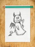 Devil Doodle Royalty Free Stock Photography