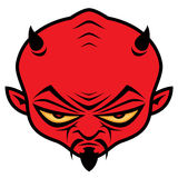Devil Dude. Cartoon illustration of a mean devil character with horns, mustache and goatee vector illustration