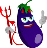 Devil eggplant with attitude Royalty Free Stock Photo