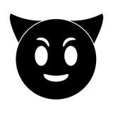 Devil emoticon funny pictogram Stock Photos