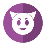 Devil emoticon funny shadow Royalty Free Stock Photography