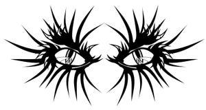 Devil eyes tattoo stock photo