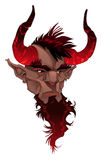 Devil face. Demon's portrait. Vector isolated illustration Stock Photography
