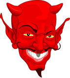 Devil face. A red cartoon style devil face illustration Royalty Free Stock Photo