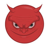 Devil Face. Vector Illustration Of Devil Face Royalty Free Stock Image