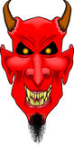 Devil_face2. Cartoon graphic depicting a devil face Royalty Free Stock Photo