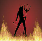 She Devil Fire Royalty Free Stock Photo