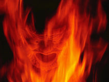 Devil fireplace Royalty Free Stock Photos