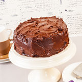 Devil food cake Stock Photo