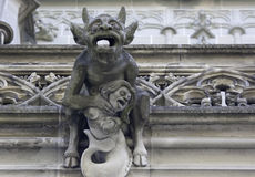 Devil Gargoyle, Minster of Bern stock images