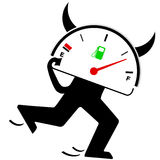 Devil gasoline gauge Stock Images