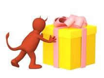 Devil gift Stock Image