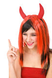 Devil girl Stock Images
