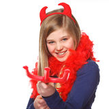 Devil girl Royalty Free Stock Photo