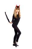 Devil girl Stock Photo