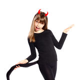 Devil girl Royalty Free Stock Images