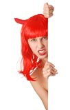 Devil girl Stock Photography