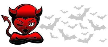 Devil girl. Bad girl Royalty Free Stock Image