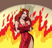 Devil girl Royalty Free Stock Image