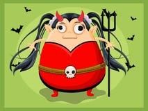 Devil girl cartoon Stock Photography